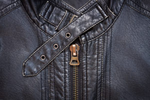 Sample of a Leather Jacket after it has been to the drycleaner